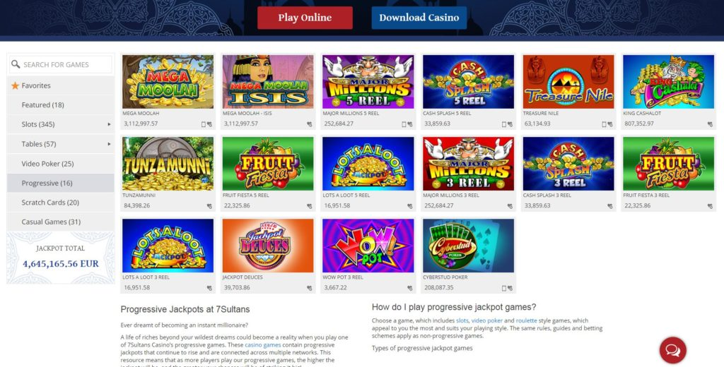 7 Sultans Casino Online Review With Promotions & Bonuses