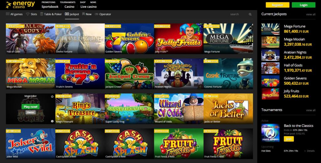 Energy Casino Online Review With Promotions & Bonuses