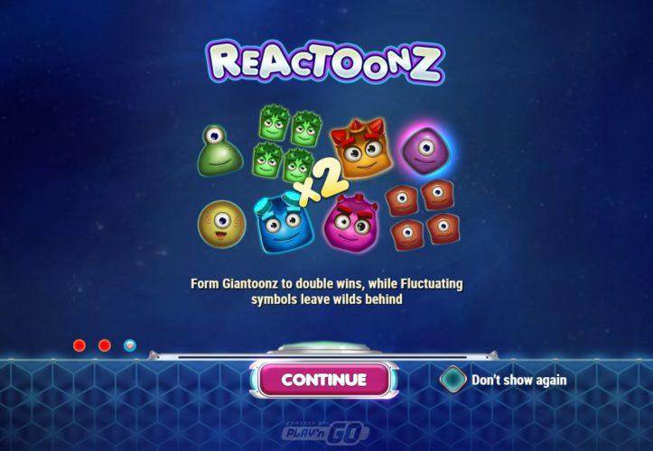 Reactoonz Slot - Casumo Casino